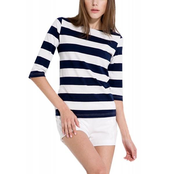 FELACIA Womens Sleeves Contrast Stripes