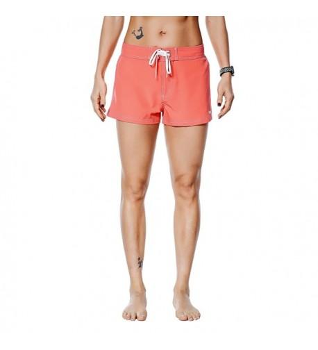 Nonwe Womens Shorts Lightweight Orange