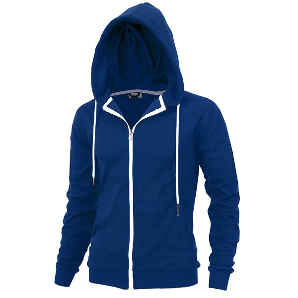 DELIGHT Mens Fashion Fit Full-zip HOODIE with Inner Cell Phone Pocket