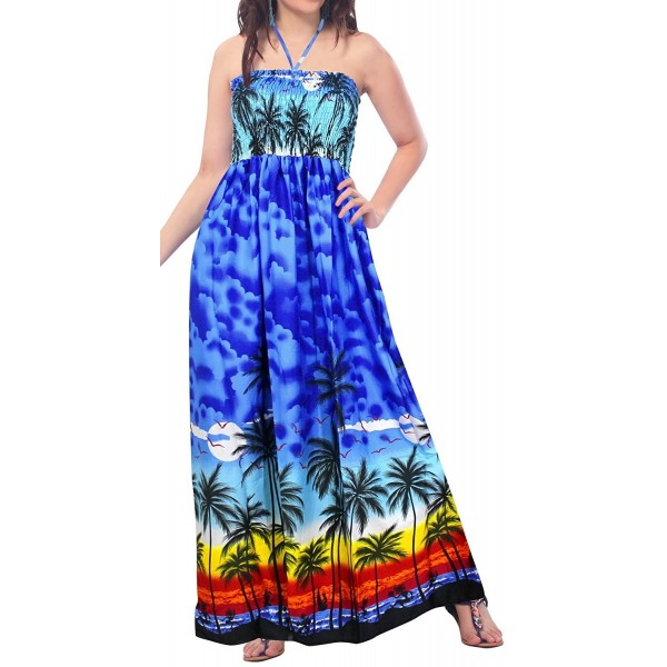 0ca9b4c968 ... Evening Tube Maxi Skirt Dress Beach Backless Sundress Halter Boho Party  Swimsuit - Royal Blue - CE11U5C1ET1. Leela Womens Halter Swimsuit Swimwear