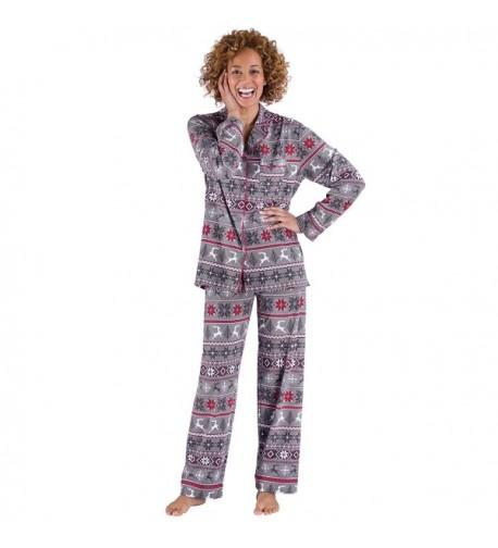 PajamGram Nordic Cotton Button Front Pajamas