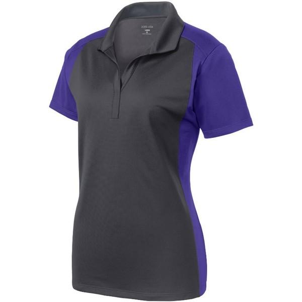 b85cb431906 ... Ladies Moisture Wicking Micropique Polo Shirts in Sizes XS-4XL - Iron  Grey  Purple - CT12C1QPGLF. Joes USA Moisture Micropique Shirt Purple M