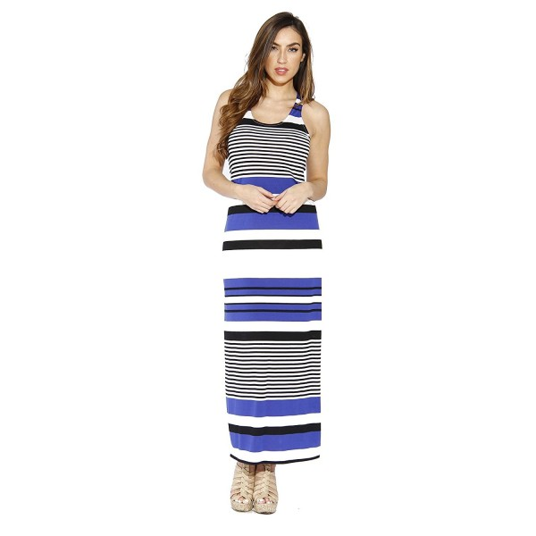 4d448750d989 ... Racerback Maxi Dress/Summer Dresses For Juniors - Black / Royal / Ivory  - C012C9HPSM3. Just Love 2092 L 77BRI Racerback Dresses