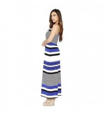 f0e697710c8ad Racerback Maxi Dress/Summer Dresses For Juniors - Black / Royal ...
