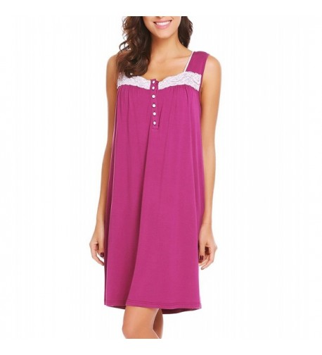 Ekouaer Womens Sleeveless Nightgown Sleepwear