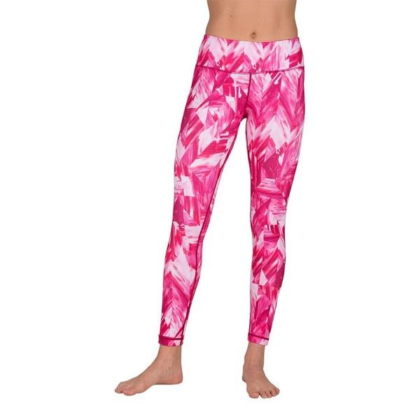 206e5a7a45 Peachskin Brushed Printed Leggings - Yoga Pants - Woodgrain Fuchsia ...