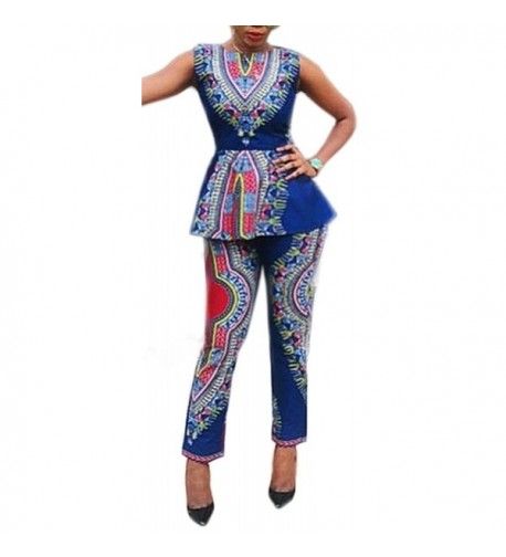 Blansdi African Bodycon Peplum Outfits