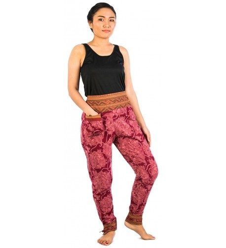 Lofbaz Womens Cotton Printed Burgundy