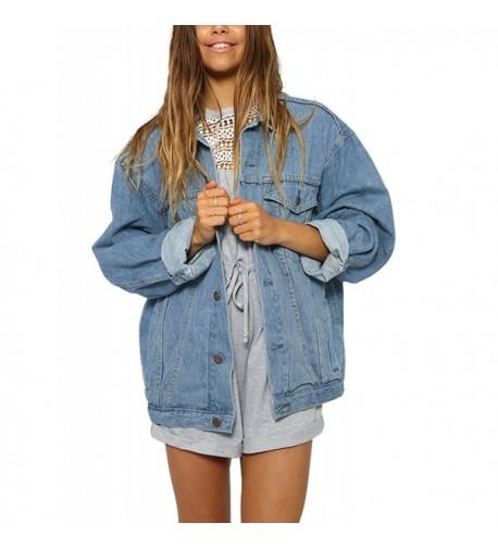 Eliacher Womens Boyfriend Jacket Sleeve