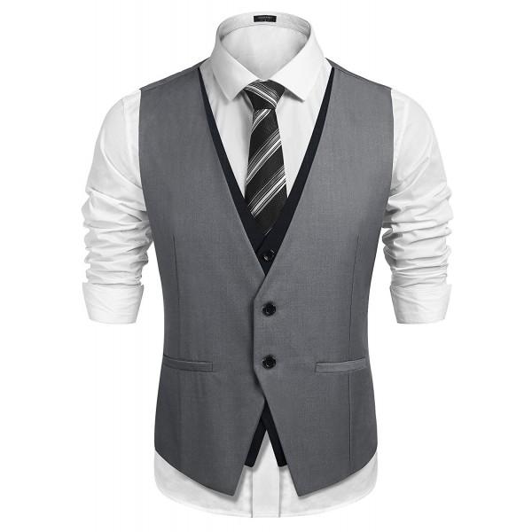 Detailorpin Mens Casual Dress Waistcoat