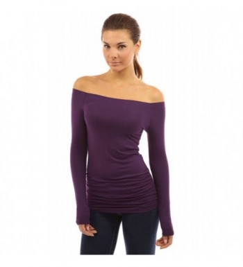 PattyBoutik Womens Shoulder Ruched Sleeve