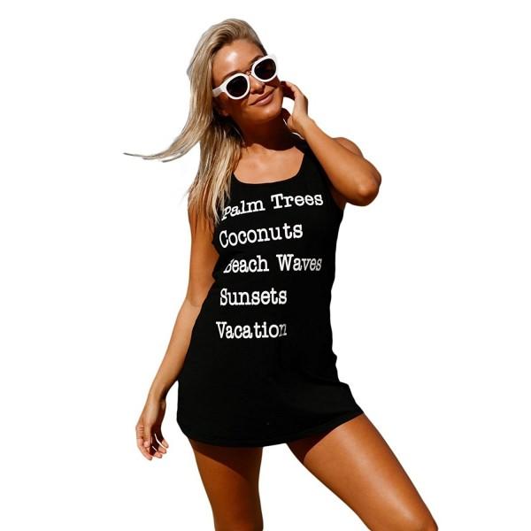 edbc0faa67 Women s Summer Beach Sleeveless Tank T-Shirt Swimsuit Dress Cover Up ...