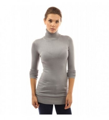 PattyBoutik Womens Turtleneck Sleeve Sweater