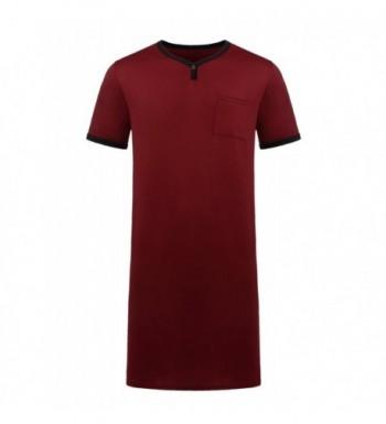 Luxilooks Cotton Nightshirts Lightweight Henley Nightshirt