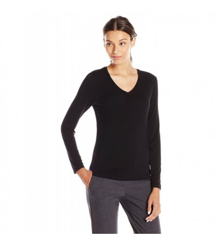 d643646f CLC Women's Mulberry Silk T-Shirt Long Sleeve Crewneck Tank Knit ...