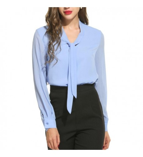 Ladies Sleeve Blouses Fashion Button