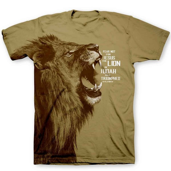 Kerusso Lion All Over Tee Tan