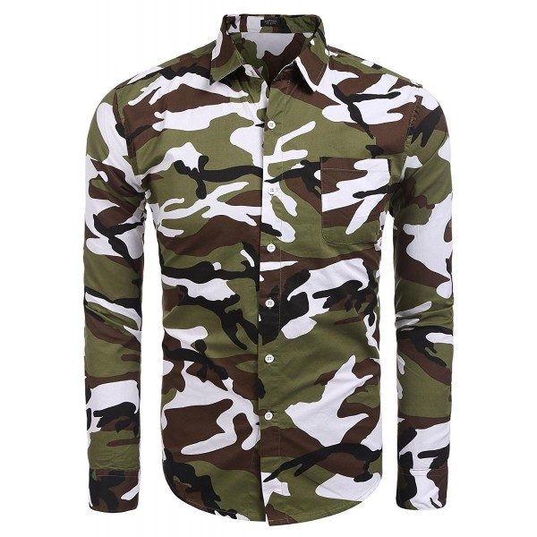 Coofandy Button Shirts Sleeve Medium