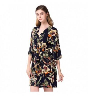 3a85471f9e Women s Short Kimono Robe- Bridesmaid Robes Gift- Bathrobe - Dark ...