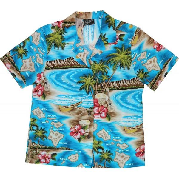 RJC Womens Tropical Hawaiian Turquoise