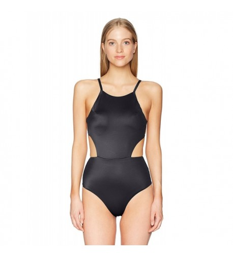 RVCA Juniors Solid Piece Swimsuit