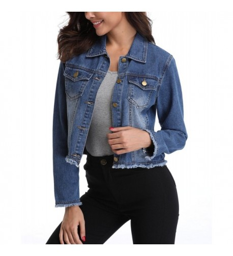 MISS MOLY Womens Button Pockets
