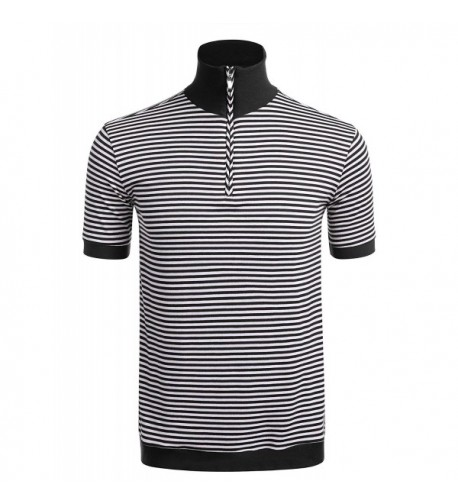 JINIDU Casual Sleeve Striped T Shirt