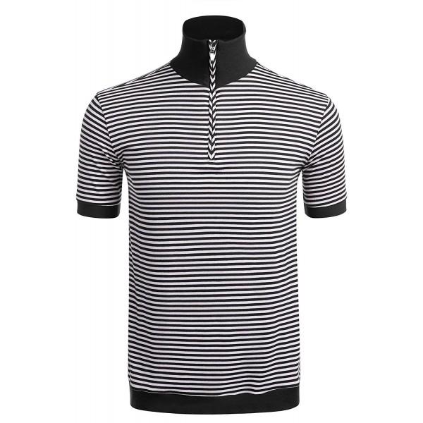 JINIDU Casual Sleeve Striped T Shirt