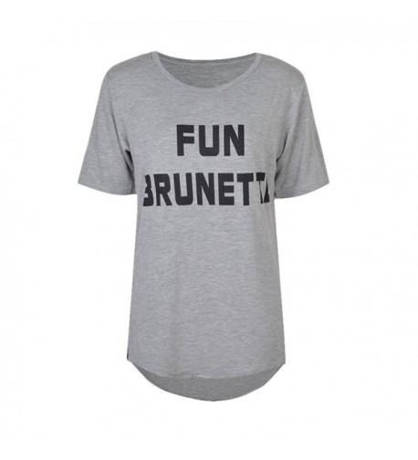 Girlfriends T shirt Brunette Blonde Sleeves