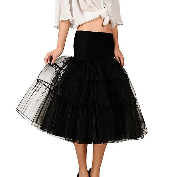 XinChangShangMao Womens Petticoat Length Party