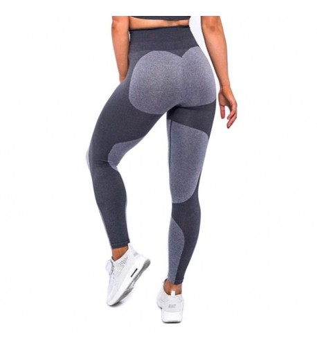 Women's Heart Shape Yoga Pants Sport Pants Workout Leggings Sexy High Waist Trousers - 5 Grey Heart - CQ180KXN6ZE