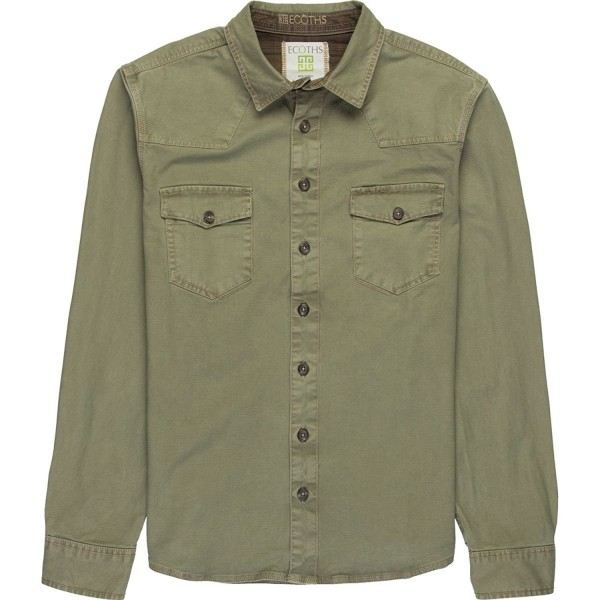 Ecoths Brock Overshirt Lichen Clothing