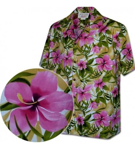 Hibiscus Garden Hawaiian Shirts 3956 PINK 2XL