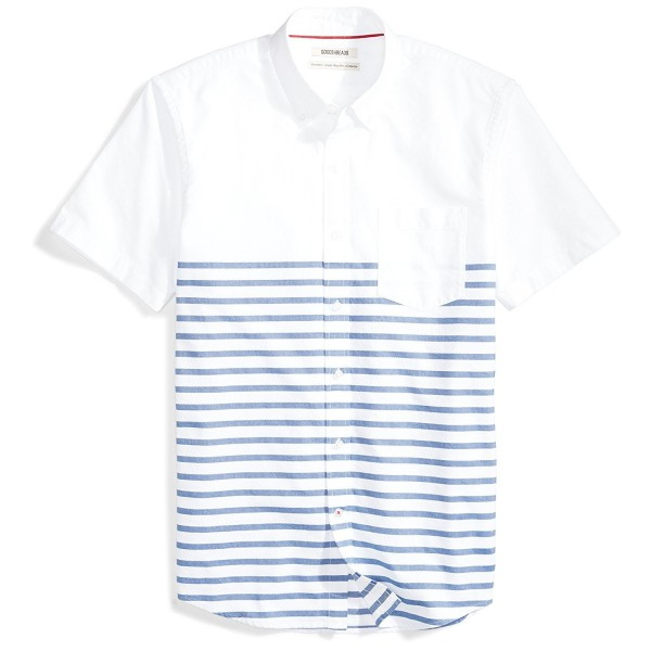Goodthreads Standard Fit Short Sleeve Placed Stripe Stripes