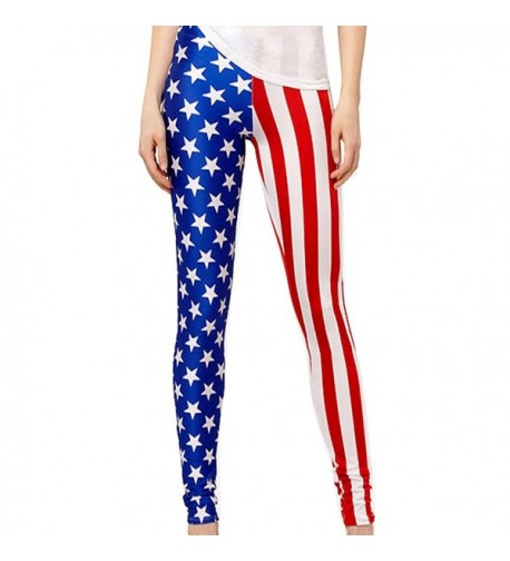 Elastic Wonder Stripes American Leggings