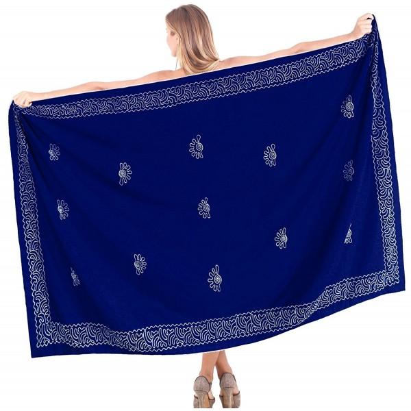 8258235e17 ... Pareo Wrap Bikini Cover up Womens Rayon Swimsuit Swimwear - Embroidered  Vivid Blue - CT12J62HQNX. Leela Bathing Sarong Embroidered Swimsuit