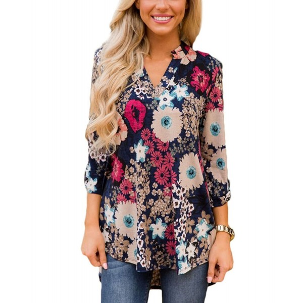 Dokoll Womens Casual Pattern Blouses