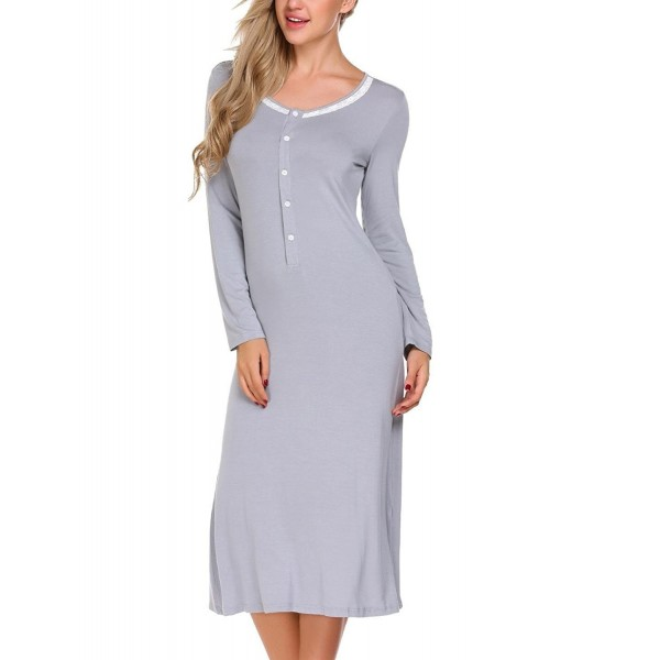 Skylin Sleeve Sleepwear Womens Nightgowns
