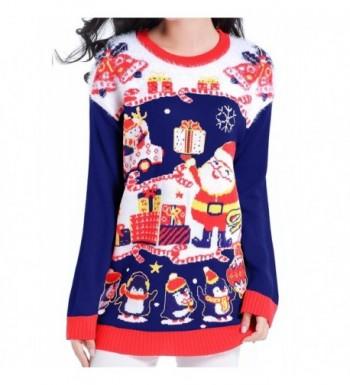 V28 Christmas Reindeer Pullover Nightblue