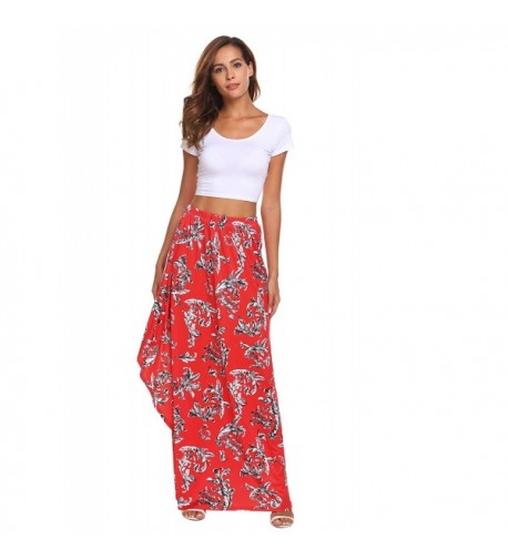 Chigant Womens Floral Printed Skirts