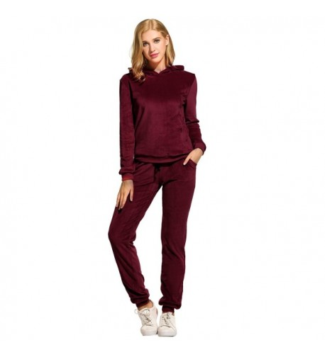 Hotouch Womens Plush Velour Jogging