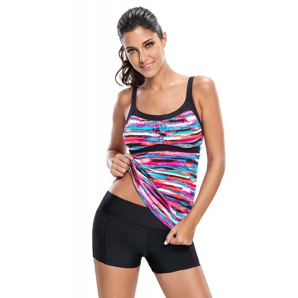 REKITA Gorgeous Stripes Tankini Muliticolor