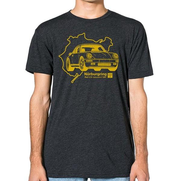 GarageProject101 Porsche yellowbird T Shirt Heather