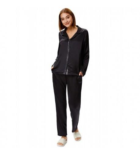 Zexxxy Women Solid Pajama Sleeve