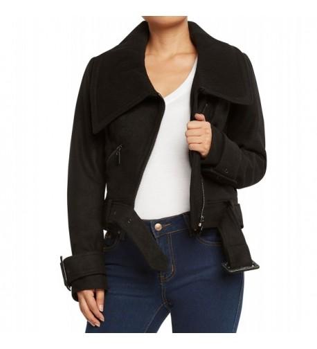 Runway York Womens Blend Jacket Black Large