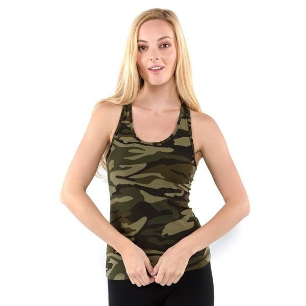 Vibrant Vixen Tank Top Camouflage VCMTT Green