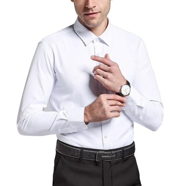 Secofly Sleeve Dress Shirts White