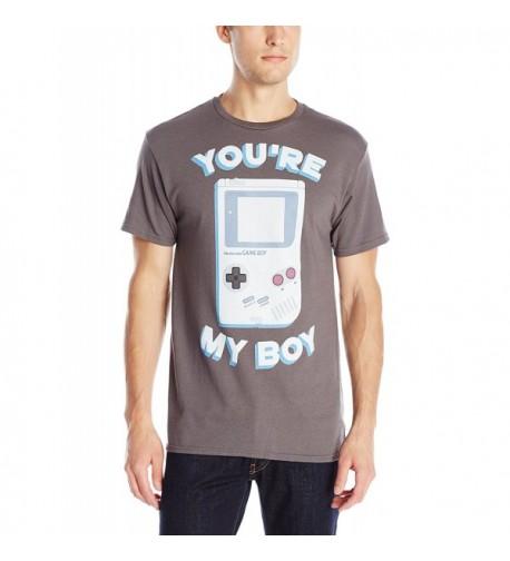Nintendo Gameboy Sleeve T Shirt Charcoal