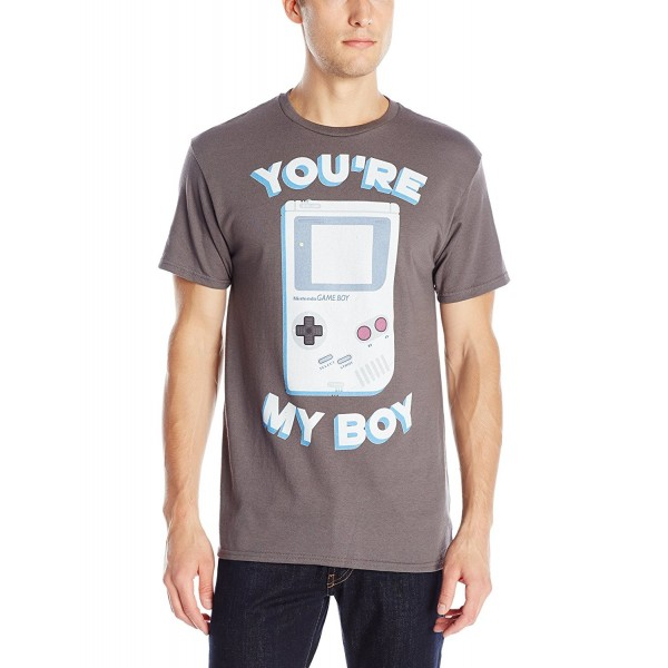 Nintendo Gameboy Sleeve T Shirt Charcoal