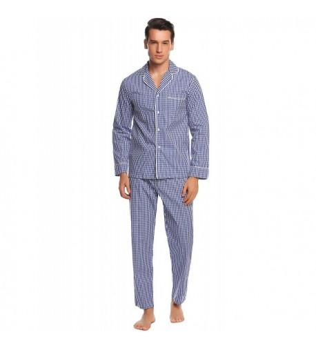 Ekouaer Pajama Pants Sleepwear Blue